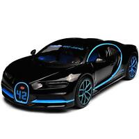 BUGATTI CHIRON 2018 MONTOYA #42 1/24 Die Cast Model Car Metal Miniature Black