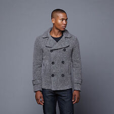 Slate And Stone Emery Wool Pea Coat Size Large, Made in Italy ~NWT
