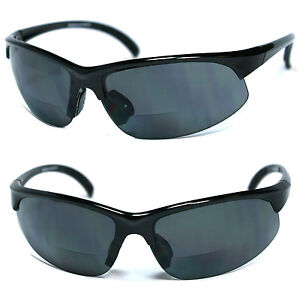 Bifocal Vision Reader Reading Glasses Sunglasses Smoke, Yellow or Amber Lens