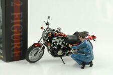 Figurine Bike Biker Mechanic Fuel 1:12 American Diorama No Bike