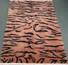 New hand knotted Tiger stripe rug hand knotted wool animal print 6x9 #16192