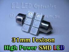 31mm SMD Festoon LED Light Bulbs 12VDC Car Auto Boat Motobike