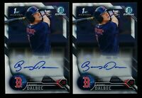 (x2) Bobby Dalbec 2016 Bowman Chrome Draft Auto Autograph Rookie Lot Red Sox HOT