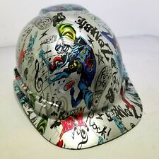 Hard Hat custom hydro dipped , OSHA approved ROCK ZOMBIE F**K YEAH !!!NEW!!!!