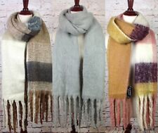 Extra Long Luxurious Shawl Faux Mohair Womens Soft Winter Scarf Fringe Oversized