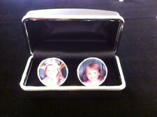 Personalise custom Cuff Links, Photo Charm. Memorial