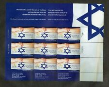 Israel Scott #1807 Holocaust Remembrance Complete Sheet MNH!!