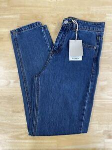Pull & Bear Blue Mom Jeans Uk Size 6 BNWT