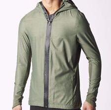 Adidas Originals Homme Running Ultra Veste Taille 2XL Vert Climaproof BNWT