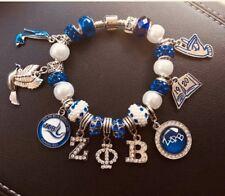 Zeta Phi Beta Charm Bracelet; Makes Excellent Valentine Gift