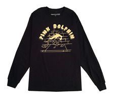 Pink Dolphin Sling Graphic Long Sleeve Shirt Black