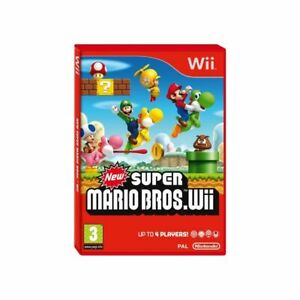 NEW SUPER MARIO BROS Nintendo Wii with all booklets and manuals