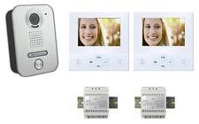 2x 4 Pollici Monitor LCD Citofono Campanello Video Interfono