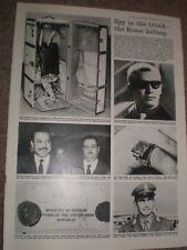 Photo article Spy in a trunk Israeli deserter Josef Dahan 1964 ref Ay
