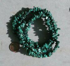 Malachite Chip Beads Semiprecious Stone Like this strand 35 in Natural