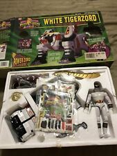 Vintage Bandai Power Rangers: White Tigerzord Action Figure W/Box and Ranger
