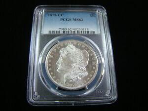 1878-CC Morgan Silver Dollar PCGS Graded MS62 #40250115
