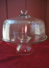 DOMED GLASS PEDESTAL STYLE CAKE STAND