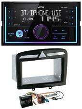 JVC AUX 2DIN USB MP3 Bluetooth Autoradio für Peugeot 308 SW CC 09-14 schwarz