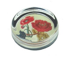 Official ENGLAND RFU Rose Glass Paperweight Rugby Union Ornament Gift Stationery