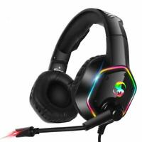 One Pro Gaming Laptop LED for S X 7.1 Surround MIC Headset Xbox RGB 3.5mm PC PS4