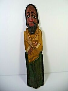 VINTAGE Hand Carved Wooden Wood  WALL DECORATION AMERICA STYLE HOME DECOR MANN