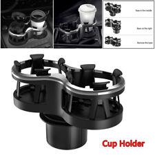 2 in 1 Car SUV Truck Cup Drinking Bottle Holder Organizer Storage Box Adjustable