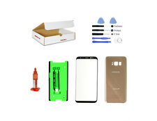 Maple Gold Front Back Glass Lens Screen Cover Replacement Kit Fit Galaxy S8 G950