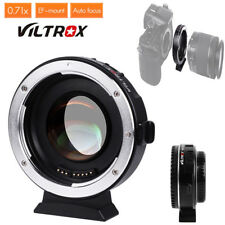 Viltrox EF-M2 Auto Focus Adapter Ring 0.71x Fr Canon EF Mount to M43 Lens Camera
