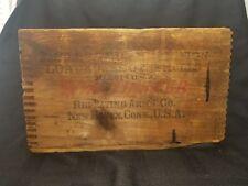 Antique Winchester 12 Ga loaded shot shells dovetail wood box 12 2 5/8 500