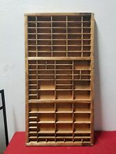 Wooden Printer's Type Tray Drawer Case Vintage  Print Letterpress Shadowbox
