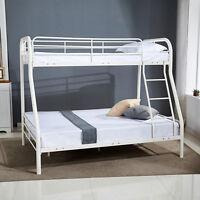 Metal Twin over Full Bunk Beds Kids Teens Adult w/Ladder Dorm Bedroom Furniture