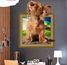 Wandtattoo 3D Dog vor Love