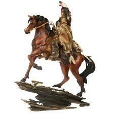 Indianer Figur Häupling auf Pferd Dekoration Indianerfigur Wilder Westen Figur