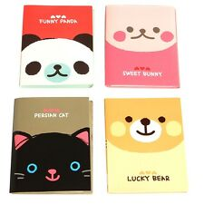 1Pc Portable Cute Cartoon Notebook Kraft Paper Notepad Memo Diary Exercise Book