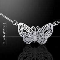 Butterfly .925 Sterling Silver Necklace by Peter Stone