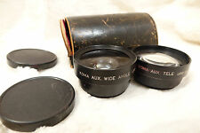 KOMA AUX + WIDE + TELE camera lens screw on AUXILIARY TELEPHOTO Black JAPAN USED