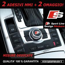 Adesivi AUDI MMI Sline Sticker decal A1 A3 A4 Q3 Q5 Q7 S1 S3 S4 S5 RS pomello
