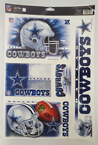 DALLAS COWBOYS DECAL DECALS ULTRA REMOVABLE WINCRAFT SPORT NFL FOOTBALL NEW