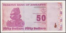 TWN - ZIMBABWE 96 - 50 Dollars 2009 UNC Prefix AA