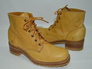 FRYE Vintage USA Made Lace Combat Boots Vibram Soles Size Women's 10M