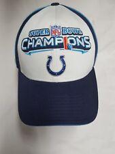Super Bowl XLI Champions Indianapolis Colts 2007 NFL champs mens Reebok hat  cap 7ad27b44d