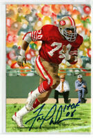 FRED DEAN SIGNED GOAL LINE ART CARD HOF AUTOGRAPH 49ERS CHARGERS