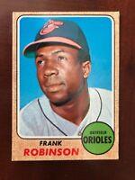 1968 Topps #500 Frank Robinson HOF Orioles