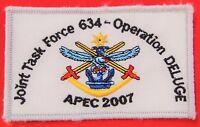 **AUSTRALIAN DEFENCE FORCE APEC 2007 OPERATION DELUGE UNIFORM CLOTH PATCH