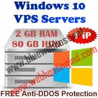 CANADA - Windows 10 VPS / RDP - 2 GB - 48 GB RAM + 80 GB - 1500 HDD + 2 Core CPU