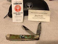 Boker  Tree Brand King Cutter Limited  ED. Folding Two Blade  Folder -OPAL GEM