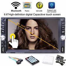 "6.6"" 2-DIN HD Bluetooth Car TFT Monitor Built-in MP3 Video Player Dual USB Radio"