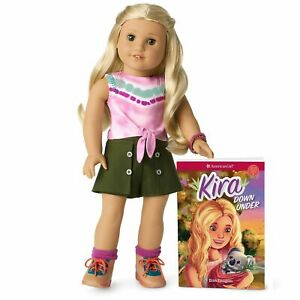 American Girl Kira Doll & Book Pierced Ears - Top Seller