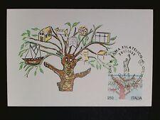 ITALIA MK 1982 FRANCOBOLLO BAUM TREE MAXIMUMKARTE CARTE MAXIMUM CARD MC CM c8773